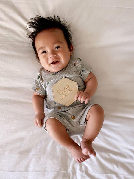 Baby Noah is 5 months! I love matching sets for baby!   #LTKsalealert #LTKbaby #LTKfamily