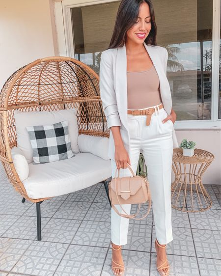 Spring/Summer neutrals for work coming in hot 🔥 My ribbed bodysuit is so flattering and comfy and a must have for the season!  . . .  http://liketk.it/3cbfb @liketoknow.it #liketkit #LTKworkwear #LTKunder50 #LTKstyletip #workwear #officewear #businessattire #summerworkwear #businesswoman #summerstyle #springfashion #igstyle #miamiblogger #fashionblogger #miamistyle #miamilife #summerfashion #stylishwomen #trendyoutfit #rewardstyle #affordablestyle #styleonabudget #estilosa #expressme #abercrombiestyle #abercrombiepartner #americanstyle #dressmeforless