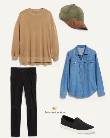 Cozy fall layers. Sweatshirt is oversize and amazing.   #LTKstyletip #LTKunder50 #LTKcurves