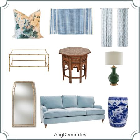 A pretty living room plan inspired by Mark D. Sikes.   #LTKhome