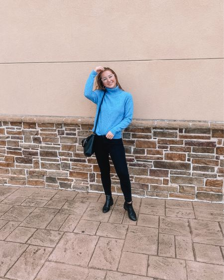 Black Friday Deal This Target blue turtleneck sweater is only $10 on sale and comes in green, red and beige. Fits true to size! American Eagle black jeggings -fit tts Target black Chelsea boots- on sale for $20! Fits tts    http://liketk.it/32tGS #liketkit @liketoknow.it #LTKshoecrush #LTKsalealert #LTKunder50