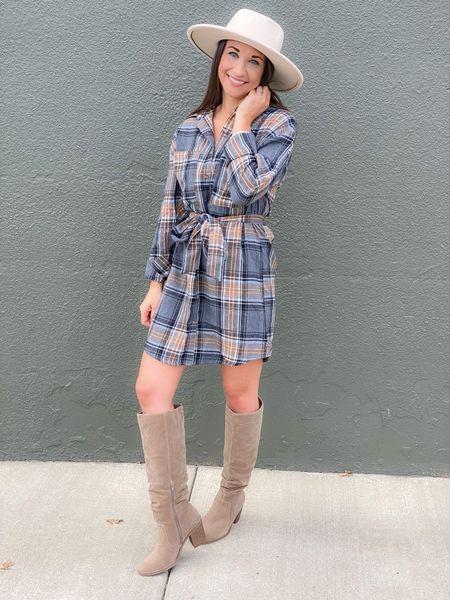 Flannel dress, fall outfit idea   #LTKunder50 #LTKstyletip #LTKsalealert