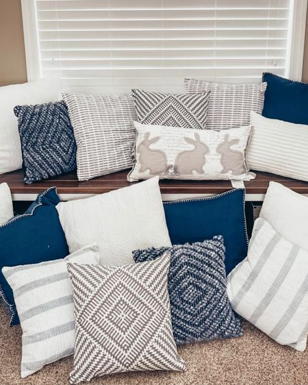Click here to shop my decorative white, cream, gray, navy and beige-accented throw pillows! I got all of them from either Target or Amazon! They make any area transform into a cozy nook or couch that you can relax in!  http://liketk.it/38WFj #liketkit @liketoknow.it #StayHomeWithLTK #LTKhome #LTKstyletip @liketoknow.it.home @liketoknow.it.family Follow me on the LIKEtoKNOW.it shopping app to get the product details for this look and others