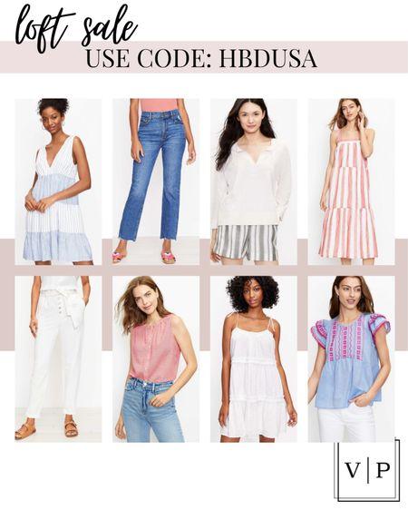 Loft Sale favorites! So many cute things on sale this weekend for the fourth! Love this summer dress! http://liketk.it/3j1zD #liketkit @liketoknow.it #LTKunder50 #LTKsalealert #LTKstyletip @liketoknow.it.home @liketoknow.it.family