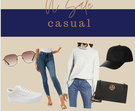Platform sneaker Grey sweater Skinny jeans by good american Black hat Black bag Quay sunglasses NSale N sale Nordstrom sale Anniversary  Casual  #LTKSeasonal #LTKunder100 #LTKsalealert