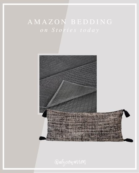 """The pick-stitch coverlet is 20% and $100! It's a great lookalike to one at Pottery Barn for less than half the price. I'm also impressed with this 36"""" lumbar pillow. Tap over to @alysewarren on Instagram to see more!   Bedroom inspiration, Amazon finds, bedding, quilt, home decor, Alice Lane inspired  #LTKunder100 #LTKhome"""