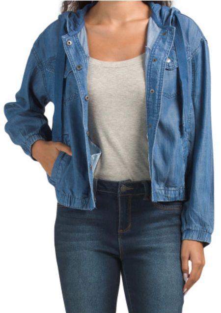 $24.99 - Cute denim jacket. Ordered to try in size XS.  #LTKbacktoschool #LTKunder100 #LTKunder50