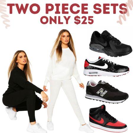 Two piece tracksuits only $25. Hoodie & joggers or sweatshirt & pants.   #LTKunder50 #LTKunder100 #LTKsalealert