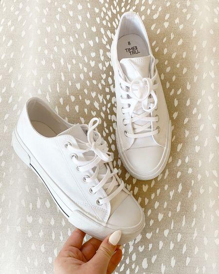 White sneakers favorite white sneakers Walmart fashion   #LTKstyletip #LTKunder50 #LTKshoecrush