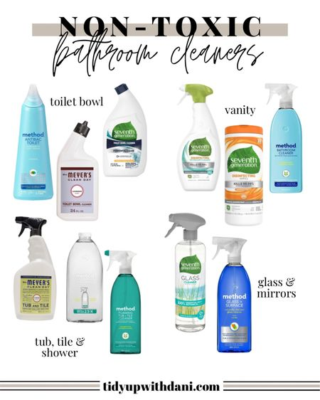 Non-toxic, natural ingredient bathroom cleaning products from Target. Natural bathroom cleaners. Bathroom cleaning products without bleach. Natural disinfectant spray, shower cleaner, toilet bowl cleaner and natural non-toxic glass cleaner. Non-toxic disinfectant wipes. All natural bathroom cleaning supplies.  #LTKunder50 #LTKhome