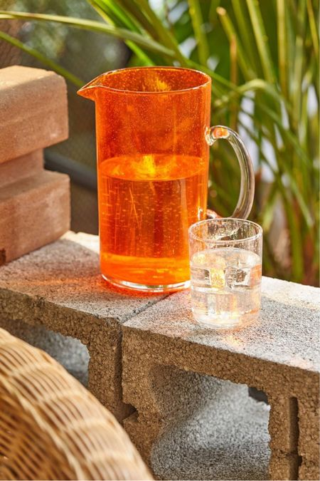 urban outfitters isadora glass pitcher  #LTKhome #LTKSeasonal