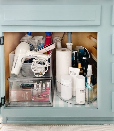 Pretty containers for the win! #thecontainerstore #bathroomorganization   #LTKhome
