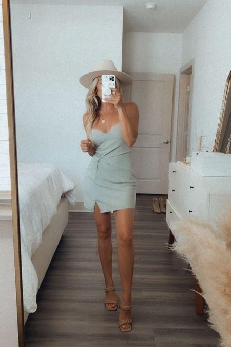 Love this mint mini dress, perfect for hot summer nights!  Wearing xs  #LTKsalealert #LTKshoecrush #LTKtravel