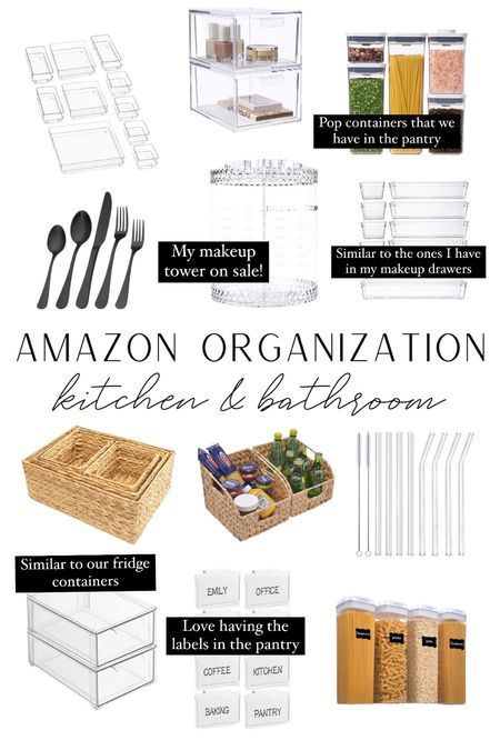 So many good organization pieces at amazon! Linked similars to the ones we have & some that we use on the daily.  #LTKunder100 #LTKstyletip #LTKhome