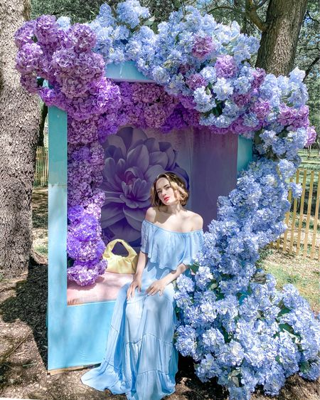 Blue off the shoulder dress: http://liketk.it/3eJ6z #liketkit @liketoknow.it #LTKunder50