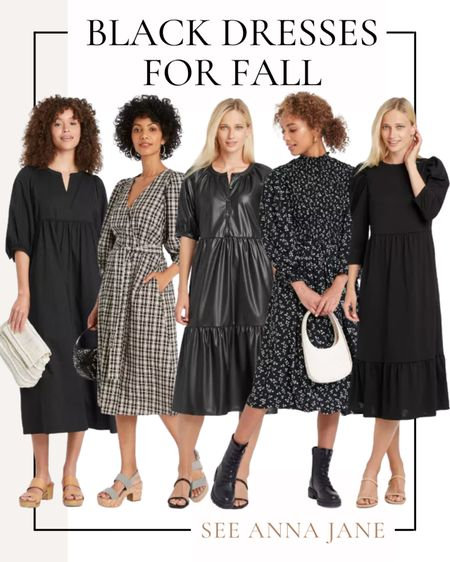 Black Dresses For Fall From Target 🎯  #blackdress #targetdress #targetfinds #targetstyle #target #targetfashion #mididress #falldress #fallstyle #falloutfits #fallclothing #falloutfitideas  #LTKunder50 #LTKstyletip #LTKSeasonal