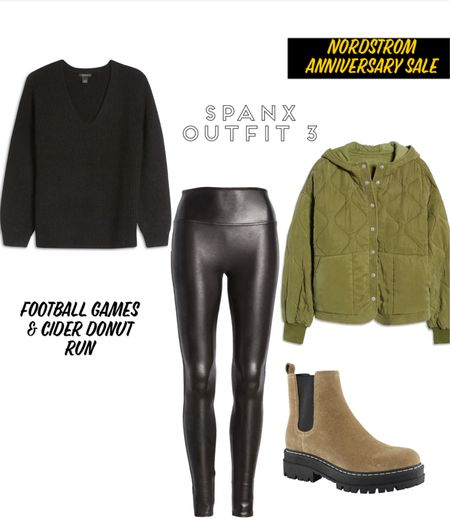 Spanx leggings outfit, legging, quilted jacket, Nordstrom anniversary sale pines and palms, pinesandpalms3 #pinesandpalms3  #LTKsalealert #LTKunder100 #LTKunder50