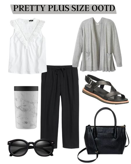 Pretty Plus Size Outfit Of The Day! Love this outfit for a Monday full of Zoom meetings. Looks polished but is also comfortable for dropping the kids off at school and running errands. http://liketk.it/3eWcC #liketkit @liketoknow.it #LTKcurves #LTKworkwear #plussize #plussizefashion
