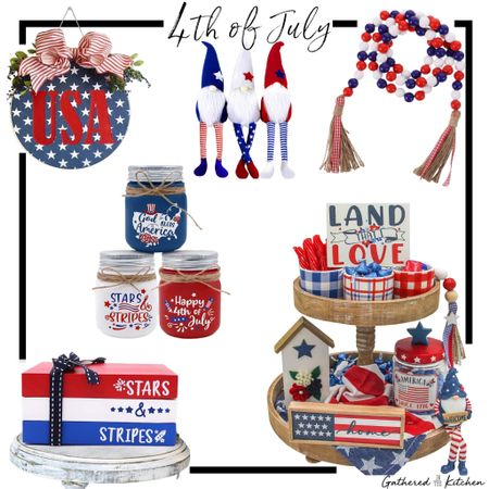 4th of July decor!! #4thofjuly #farmhousedecor  http://liketk.it/3iOLP #liketkit @liketoknow.it @liketoknow.it.home @amazonhome #gatheredinthekitchen Screenshot this pic to get shoppable product details with the LIKEtoKNOW.it shopping app