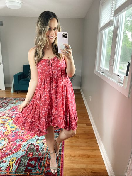 Target Finds: I am obsessed with this loose dress, I bought it to wear as a swimsuit cover up but I am obsessed with it! It looks so much like a free people dress I have, also linked my nude heels!  #LTKswim #LTKshoecrush #LTKunder50