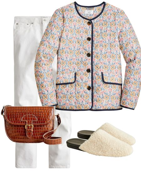 Casual Friday 50% off with code GOBIG #casualstyle #sherpa #mules #jeans #crocbag #fallstyle #shackets #quiltedjackets   #LTKSeasonal #LTKsalealert