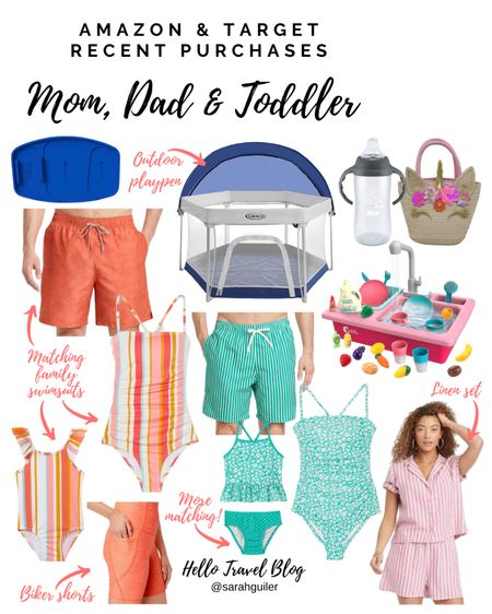 Amazon finds. Amazon fashion. Family swim. Matching family. Mommy and me swimsuits. Outdoor pack and play. One piece swimsuit. Summer outfits. Beach vacation. Baby girl. Girl toddler. Swim trunks. Target style. Target finds. @liketoknow.it @liketoknow.it.family http://liketk.it/3j5dK #liketkit #LTKfamily #LTKswim #LTKtravel