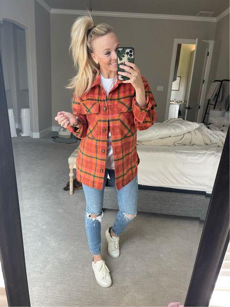 Shacket, fall outfit   #LTKSeasonal #LTKstyletip #LTKunder50