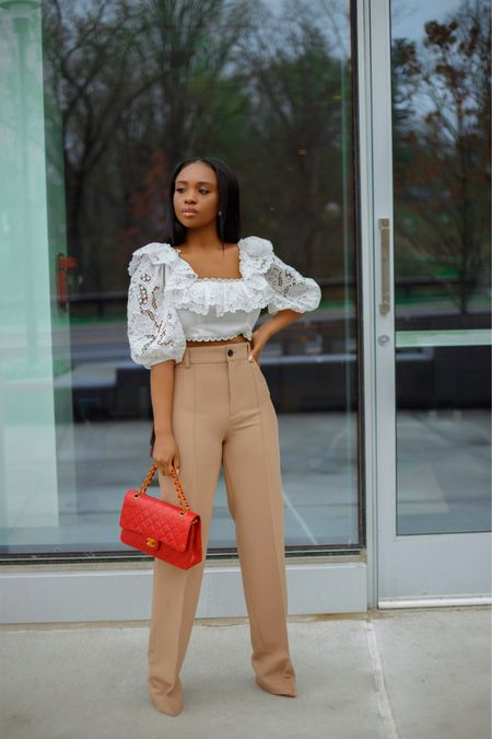 Sucker for a fun and flirty top. This look and outfit details are now up on my blog (www.prissysavvy.com) http://liketk.it/3cY8E  Happy Wednesday y'all 🤎🤎 . .  #liketkit #ootd #zimmerman #LTKfit #springlookbook #dmvblogger @liketoknow.it #blogger