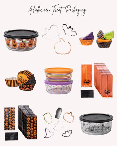 Halloween, packaging, treats, baking, cookie cutters, containers, treat bags, cupcake liners, spooky, pumpkin, ghosts, bats  #LTKfamily #LTKunder50 #LTKSeasonal