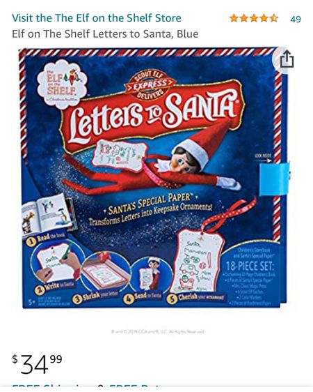 This is the Santa letters kit I used with Alex tonight 🤗 it was so much fun and the book itself is great to teach them about how the letters get to Santa 🎅❤️   http://liketk.it/34lCY #liketkit @liketoknow.it #LTKunder50 #LTKfamily #LTKgiftspo #amazon #letterstosanta #familytime #christmasactivity #christmastradition