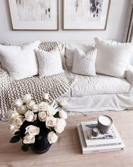 Living room style, white living room decor, coffee table styling, neutral home decor, StylinAylinHome   #LTKunder100 #LTKhome #LTKstyletip