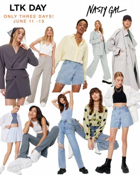 LTK Day - Nasty Gal Sales! Up to 60% off. Shop my favorites. From June 11 - 13 only!  #sales #nastygal  #LTKsalealert #LTKDay #LTKSeasonal
