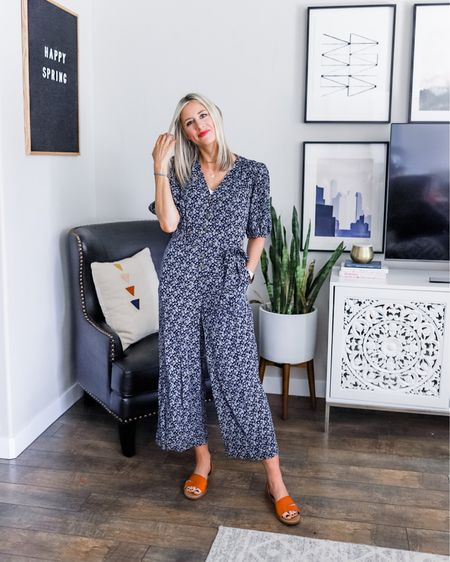 Cutest Target jumpsuit that looks like it could be grime #madewell! Fits true to size. I'm wearing small. Buttons down the front and ties around the waist. I'm wearing a lace cami underneath but the neckline isn't too low. These flats are incredible (tts —I'm wearing 9) and such a great price! http://liketk.it/2M8mw @liketoknow.it #liketkit #LTKshoecrush #LTKunder50 #LTKspring #targetstyle #capsulewardrobe #versatilewardrobe #wardrobeessentials
