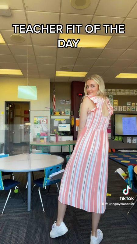 Perfect workwear dress! Love the cute open back! Perfect for a teacher!  #LTKstyletip #LTKworkwear #LTKunder100