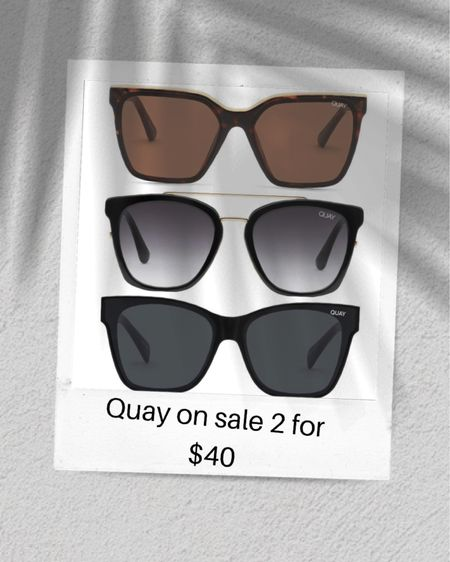 Quay sunglasses are 2 for $40 today! I've linked my favorite pair! http://liketk.it/3goW7 #liketkit @liketoknow.it #LTKunder50 #LTKsalealert #LTKswim