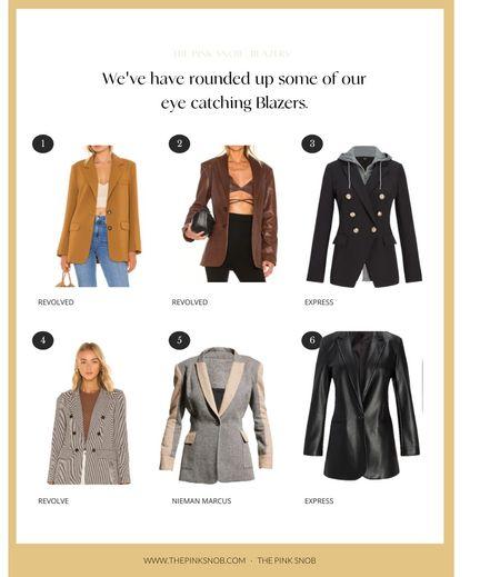 Blazers for Fall. #RevolveBlazers #Revolve  #LTKworkwear #LTKstyletip #LTKSeasonal