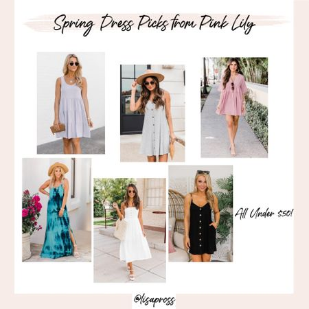 Cute spring and summer dress picks from Pink Lily for under $50! http://liketk.it/3b1zG #liketkit @liketoknow.it #LTKunder50                  Easter dresses, spring dress, white dress, spring outfit, maxi dresses