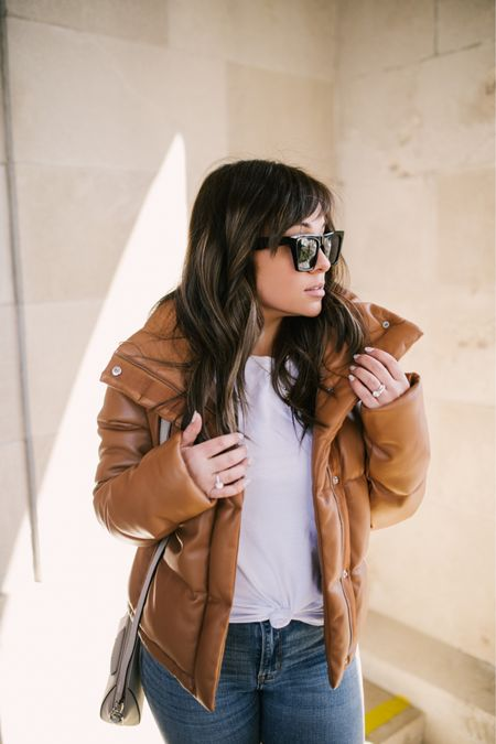 Love this outfit- and obsessed with this vegan puffer!! Perfect for spring days ahead- paired with a white knotted tee and ripped denim this is the perfect go to mom look!  http://liketk.it/3aaJb #liketkit @liketoknow.it #LTKunder100 #LTKunder50 #LTKstyletip