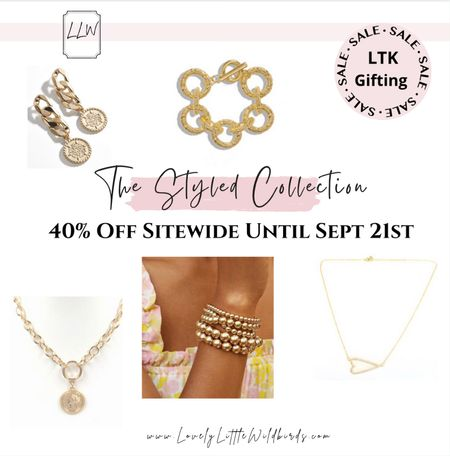 Jewelry and Acessories from The Styled Collection. On Sale! LTK gifting sale. 40% off sitewide!  Don't miss out on my fave acessories! Shop them here.  Happy Monday xoxo  ✨✨   #LTKsalealert #LTKSale #LTKunder50