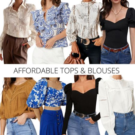 Affordable tops and blouses