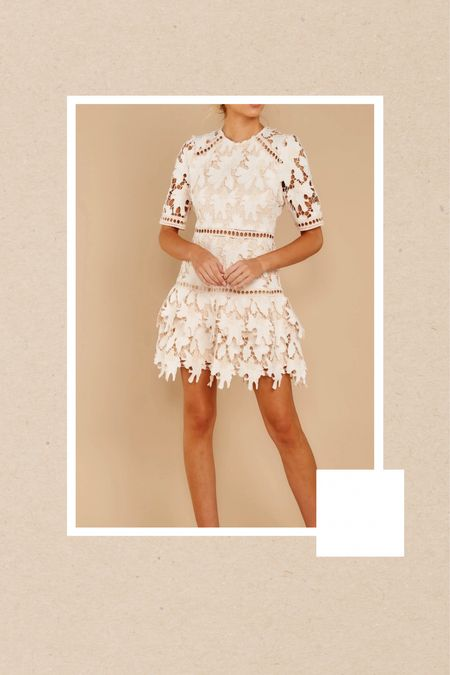 Bridal shower dress, crochet dress, lace dress  #LTKstyletip #LTKwedding #LTKfit