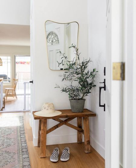 The entrance is everything.  It's the first impression, it's walking into your safety and sanctuary… and if you're anything like me, it's a glorified catchall. 😉  #jzinteriordesigns #home #LTKhome #interiordesign #entry   #LTKstyletip #LTKhome #LTKfamily