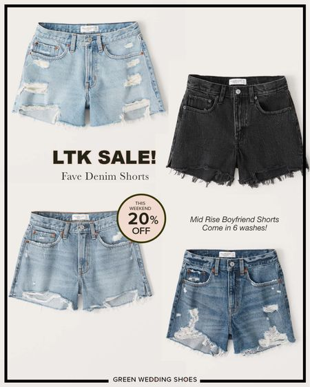 My favorite mid rise denim shorts are 20% off this weekend! They come in 6 washes.   #LTKstyletip #LTKsalealert http://liketk.it/3hujC #liketkit @liketoknow.it