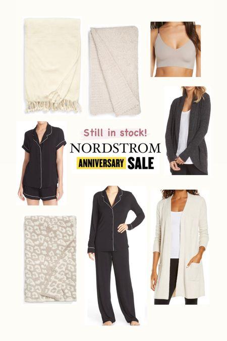 Nordstrom anniversary sale Comfies still in stock  Pajamas  Barefoot dreams blankets  Barefoot dreams cardigans   #LTKunder100 #LTKsalealert #LTKhome