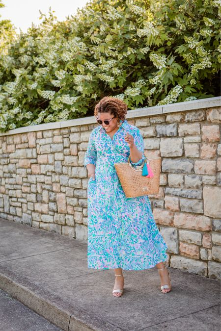 A fun floral shirtdress for summer?!?! Ummmm, yes, please!!! This dress is EVERYTHING!!!  Fit is TTS! 10/10 recommend! http://liketk.it/3gESp #liketkit @liketoknow.it You can instantly shop my looks by following me on the LIKEtoKNOW.it shopping app