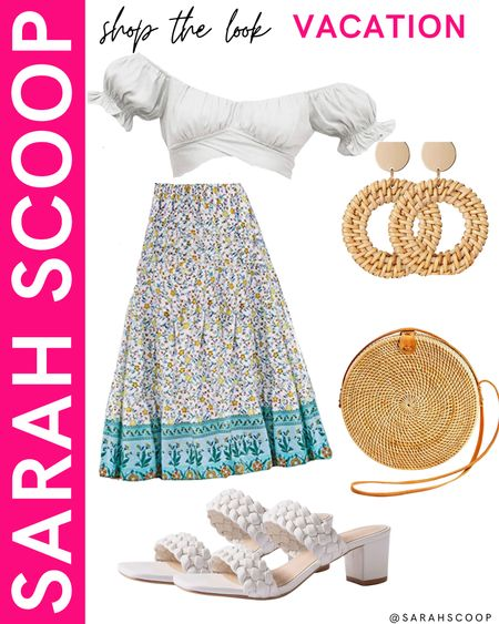This Mamma Mia inspired outfit from Amazon is perfect to travel anywhere on vacation! 🌴🌊  #whitetop#longskirt#croptop#whiteheels#purse#earrings#MammaMia#vacation#vacationoutfit#circularpurse#whitecroptop#ocean#travelling#inspiration#outfitinspiration#amazonfinds#amazonfashion#amazon#primewardrobe  #LTKstyletip #LTKunder100 #LTKtravel