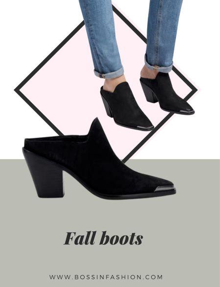 Loving these mule boots! The black suede is amazing. Shop the look!  #LTKstyletip #LTKshoecrush #LTKSeasonal