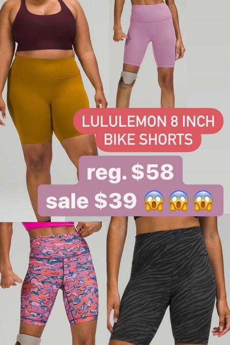Lululemon bike shorts on sale!   #LTKfit #LTKsalealert #LTKunder50