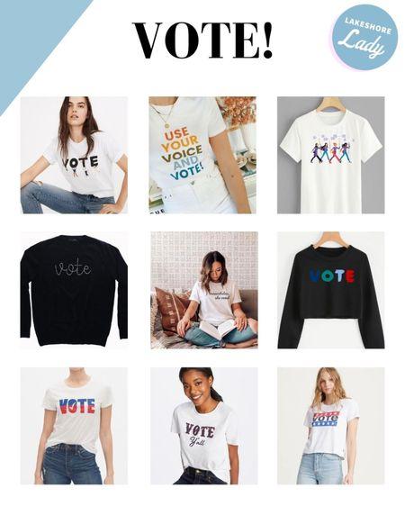 Encourage everyone to VOTE with these vote tees and sweatshirts!   #LTKunder50 #LTKunder100
