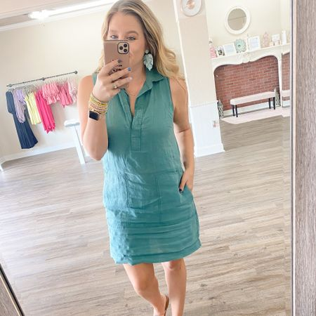 The perfect linen dress for summer and comes in a ton of colors! http://liketk.it/3gzen #liketkit @liketoknow.it #ootd